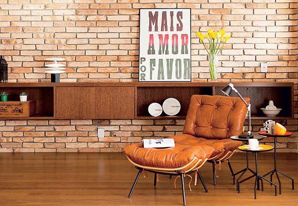 Saiba harmonizar o estilo industrial na sua decora o for Paredes estilo industrial